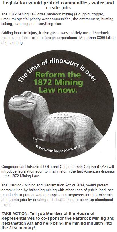 1872 Mining Law Reform
